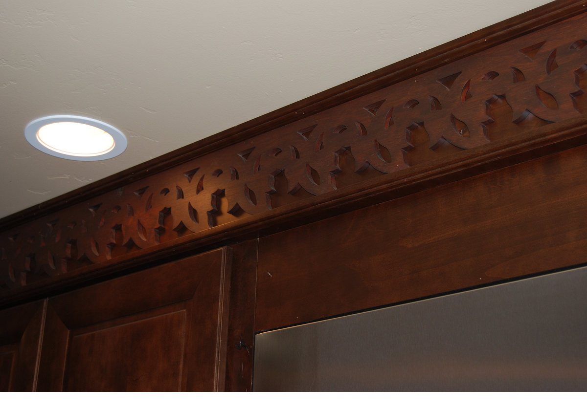 Die cut crown molding
