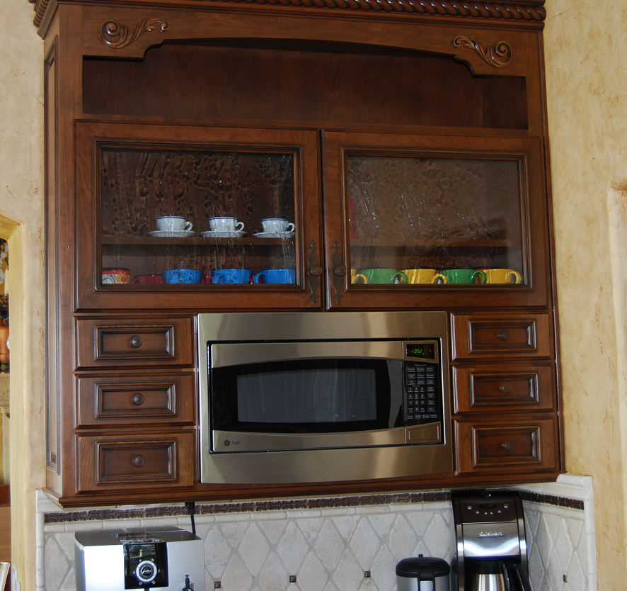 Microwave and coffee service hutch