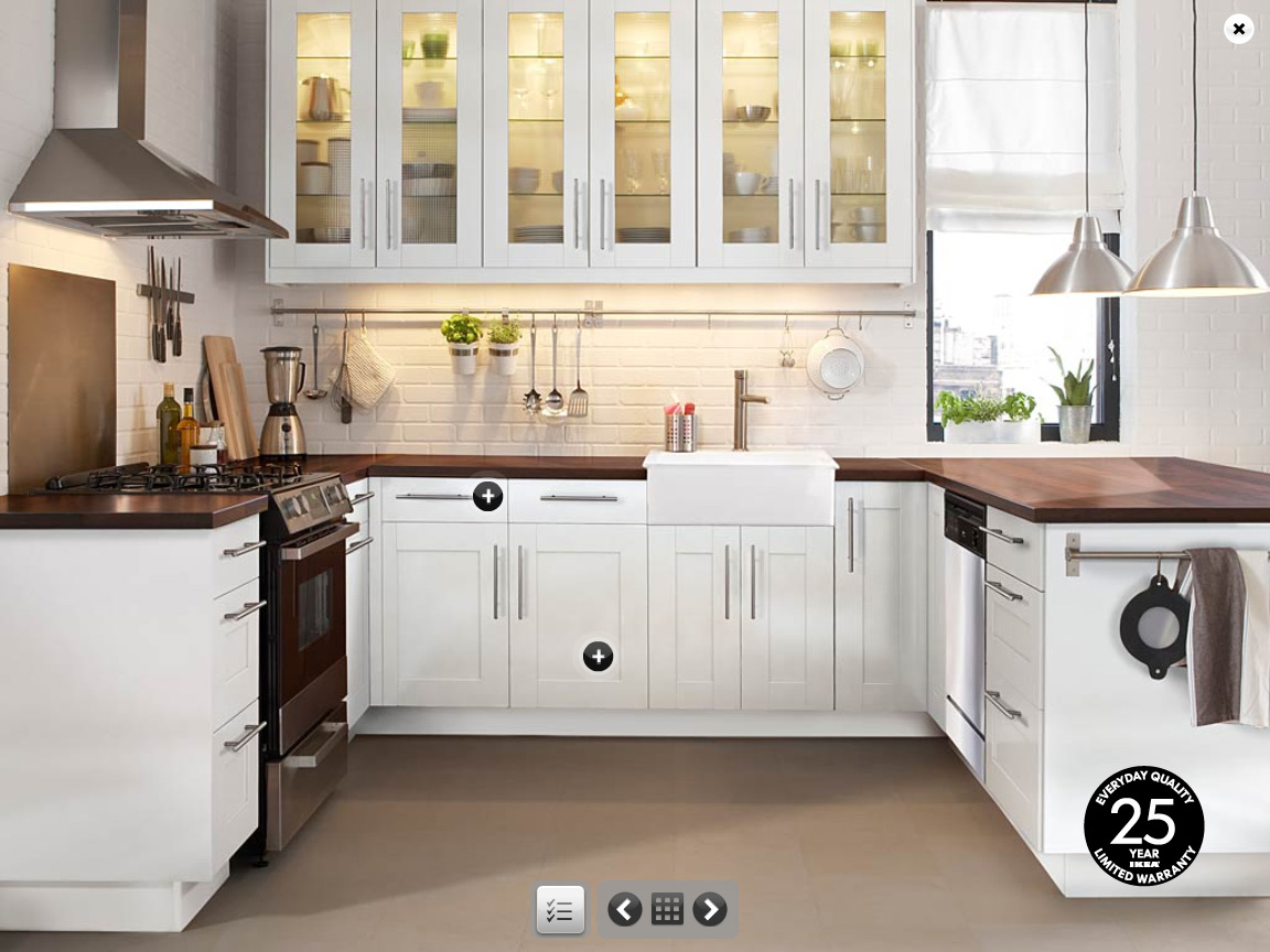 Kitchen island ikea home design roosa - White cabinet kitchen design ...