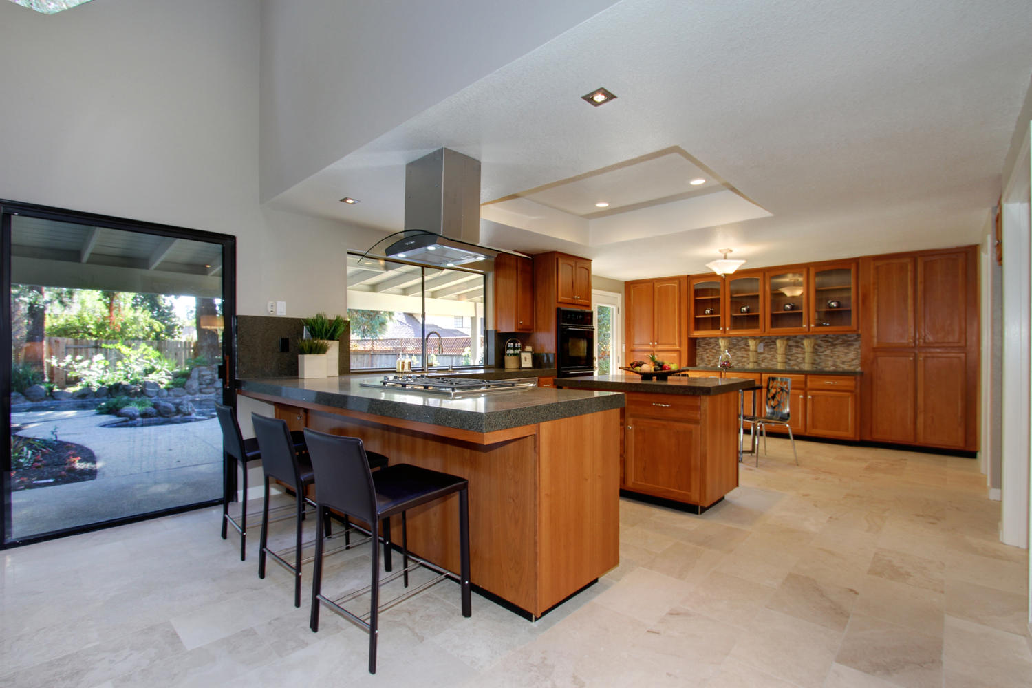 Mid Century Modern Kitchen With Coffered Ceiling February 24 2017 1500 1000