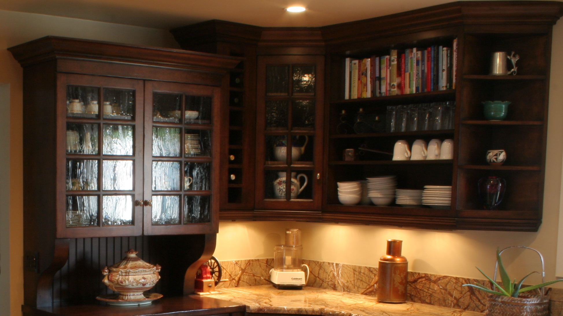 dark wood upper cabinets | much ado about kitchens
