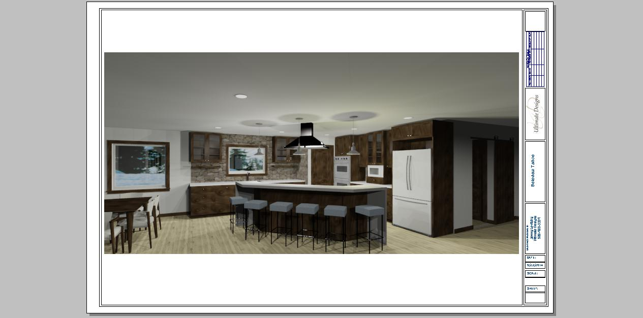 New Home design in Lake Tahoe. I am going for a rustic modern feel with greyed weathered wood floors,  light neutral cabinets with a pop of white counters with the rustic feel of the stone backsplash and metal raised seating counter.