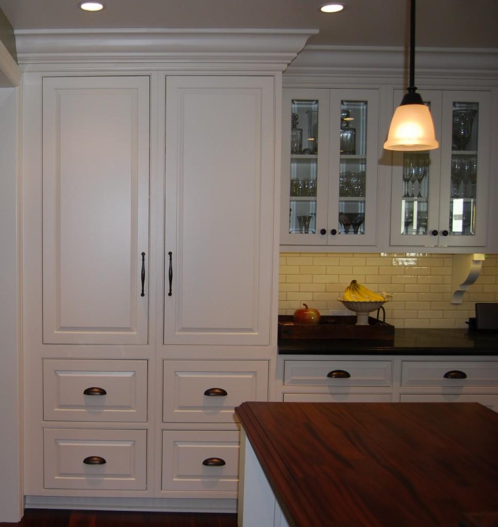 floor to ceiling cabinet storage with crown moulding. Black Bedroom Furniture Sets. Home Design Ideas