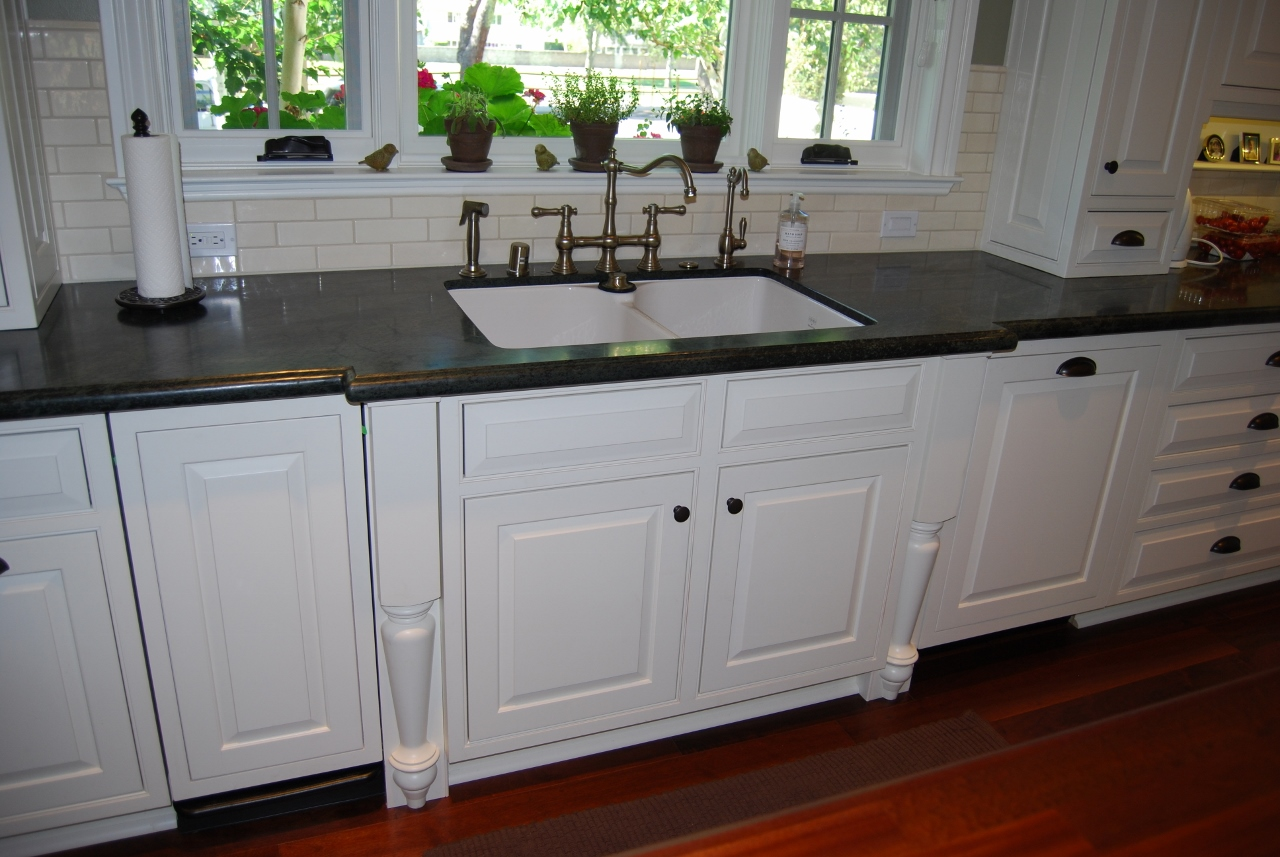 Kitchen Design, Cabinet Design, Subway Tile Back Splash, Brushed Nickel  Faucets, Soapstone